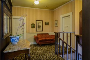 Welcome To The Mendocino Hotel and Garden Suites - Landing At The Stairs