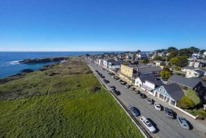 Welcome To The Mendocino Hotel and Garden Suites - Arial View of Main Street