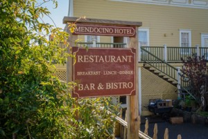 Welcome To The Mendocino Hotel and Garden Suites - Bar & Bistro Sign